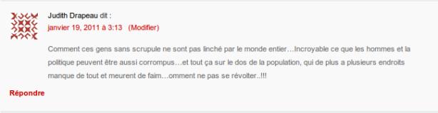 commentaire indigné sur la corruption en tunisie