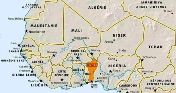 carte d'Afrique de l'Ouest