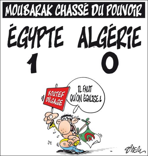 dessin de Dilem, liberté-algérie