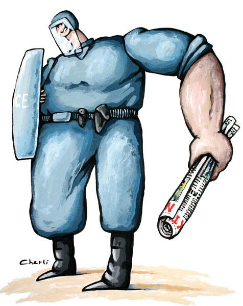 caricature prise sur le site la revolucionvive.org
