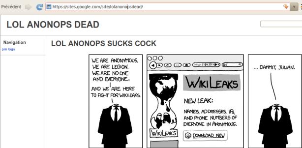 anonops défacé