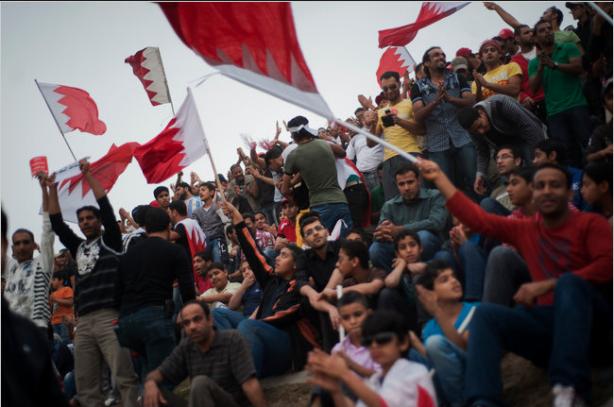 photo d'une manifestation au Bahreïn