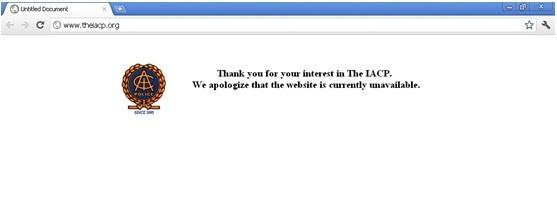 Le site est toujours inaccessible, capture d'écran prise aujourd'hui à 10:00 GMT