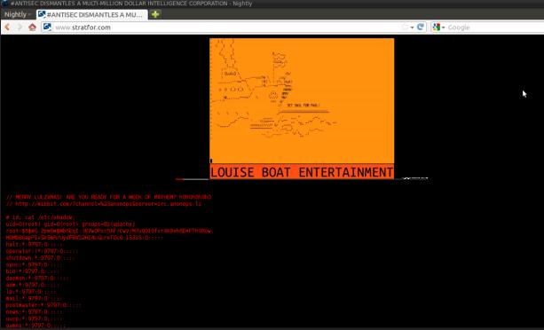 Capture d'écran du site défacé