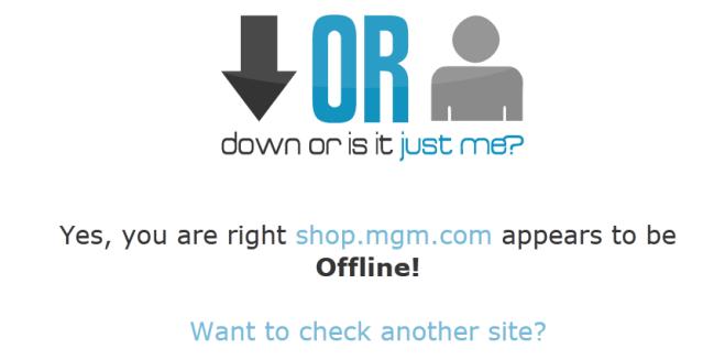 shop.mgm.com down 20/01/2012 14:00
