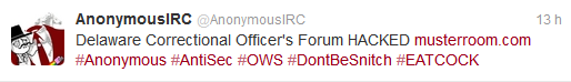 Le forum des officiers du Correctionnel de Delaware piraté