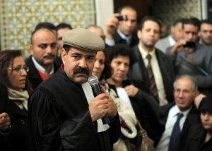 Chokri Belaïd le 29 décembre 2010 à Tunis (AFP/Archives, Fethi Belaid)